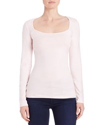 Guess Open Back Jersey Tee Pink