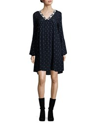 Vero Moda Dotted Knit Dress Navy