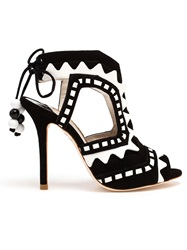 Sophia Webster Open Toe Riko High Heels Black