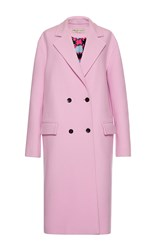 Emilio Pucci Pink Double Breasted Cashmere Wool Coat