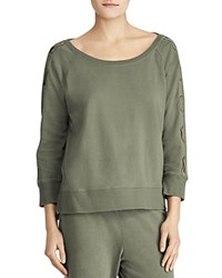 Ralph Lauren Lace Up Raglan Sweatshirt Green