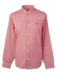 Pretty Green Men's Classic Fit Gingham Shirt Red