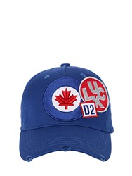 Dsquared Flag Patches Canvas Baseball Cap