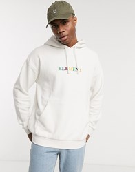 Element Big Rainbow Hoodie In Off White