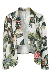 Toprical Printed Waterfall Jacket By Rare Green
