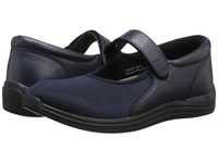 Drew Shoe Magnolia Navy Nappa Stretch Women's Shoes Blue