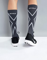 2Xu Performance Compression Run Socks In Black Ma4153e Black
