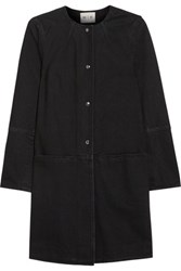 Mih Jeans M.I.H Slim Popper Cotton Twill Coat Black
