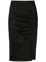 Isolda Heliconia Pencil Skirt Black
