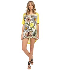 Roberto Cavalli Zebra Flower T Shirt Cover Up Multicolor Women's Swimwear