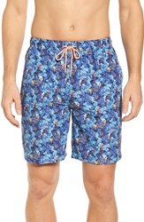 Peter Millar 'S Under The Sea Swim Trunks Atlantic Blue