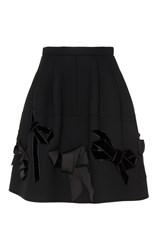 Dice Kayek A Line Mini Skirt Black