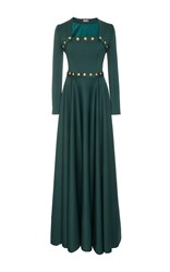 Alexis Mabille Long Sleeve Gown Green