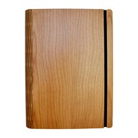 Bark And Rock Cherry Crown Wooden Notebook Pocket 15.5X19cm
