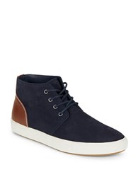 Kenneth Cole Reaction True Color S Suede Chukka Sneakers Navy
