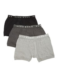 Hugo Boss Cotton Boxer Briefs 3 Pack Grey Multi