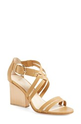 Women's Bettye Muller 'Cubana' Sandal Natural Leather