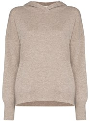 Le Kasha Riga Hooded Cashmere Jumper Brown