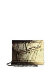 Jimmy Choo Candy Degrade Crinkled Lame Fabric Acrylic Clutch Gold Bronze