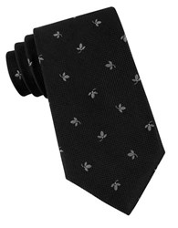 Michael Michael Kors Embroidered Silk Neck Tie Black