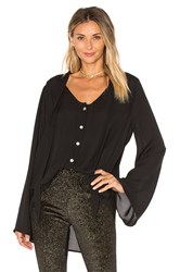 Show Me Your Mumu Taylor Tie Front Tunic Black