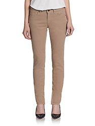 Elie Tahari Farrell Zip Cuffs Skinny Jeans Honey Maple