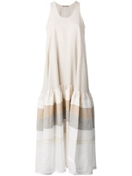 Nehera Dezire Maxi Dress Women Silk Cotton Linen Flax 36 Nude Neutrals