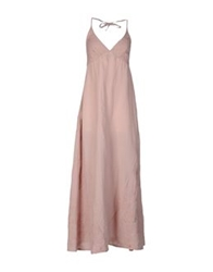 120 Lino 120 Lino Long Dresses Pink