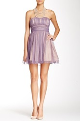 City Triangles Illusion Necklace Homecoming Dress Purple