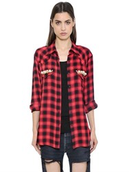 Forte Couture Thelma Checked Flannel And Lace Shirt