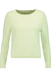 J Brand Alex Stretch Knit Sweater Green