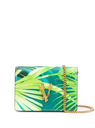 Versace Mini Jungle Print Virtus Chain Wallet 60