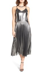 Fire Women's Pleated Foil Midi Dress