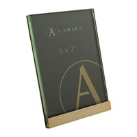 Amara Gold Block Plated Steel Photo Frame 5X7