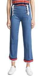 Michaela Buerger Sailor Button Jeans Blue