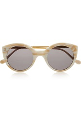 Palm Beach Round Frame Acetate Sunglasses Illesteva