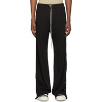 Rick Owens Drkshdw Black Easy Pusher Lounge Pants