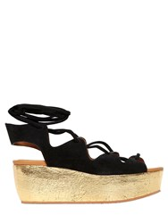 See By Chloe 70Mm Suede Lace Up Wedges