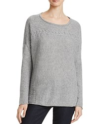 Velvet By Graham And Spencer Kinsley Cashmere Sweater Heather Grey