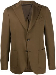 Dell'oglio Plain Regular Fit Blazer Brown