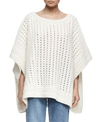 Chloe Knit Alpaca Blend Poncho Sweater Cream
