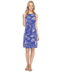 Tommy Bahama Bossa Nova Blooms Short Dress Sapphire Night Women's Dress Blue