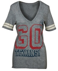 Junk Food Junkfood Women's Short Sleeve Houston Texans Tailgate T Shirt Steel Grey