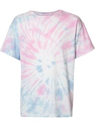 The Elder Statesman Tie Dye T Shirt Pink Purple