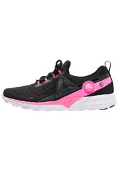 Reebok Zpump Fusion 2.5 Neutral Running Shoes Black Pink White Silver