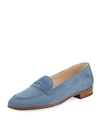 Gravati Suede Penny Loafer Blue