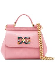 Dolce And Gabbana Mini Sicily Tote Pink And Purple