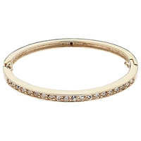 Cachet London Gold Plated Swarovski Crystal Row Bangle Gold