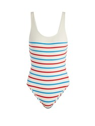 Solid And Striped The Anne Marie Scoop Back Swimsuit Multi Stripe