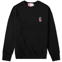 Maison Kitsune Acide Fox Patch Crew Sweat Black
